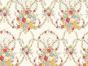 Bello papel tapiz con delicadas flores