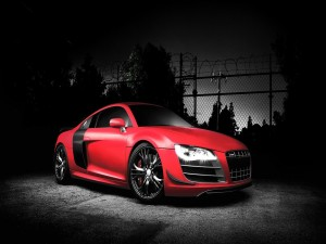 Audi R8 de color rojo