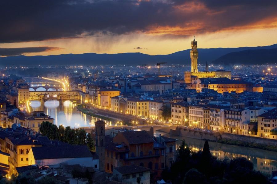 Amanecer en Florencia (Italia)