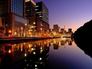 Luces en la ciudad de Tokio