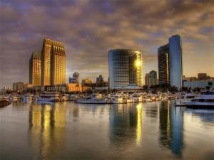 Salida del sol de San Diego