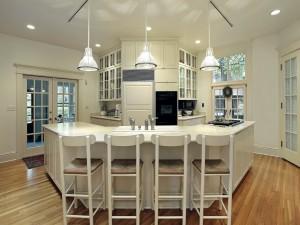 Moderna cocina color blanco