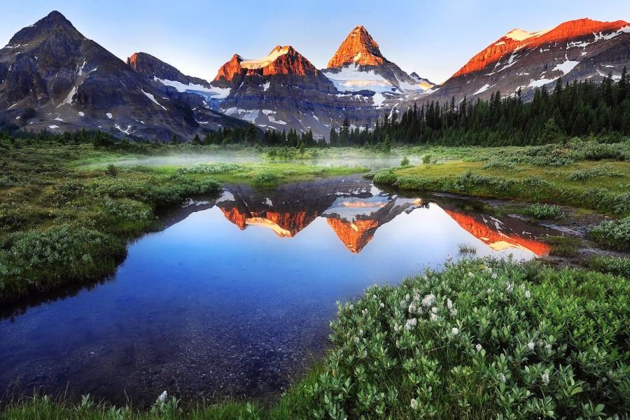 Lago Con Montañas Nevadas Hd: Lago Junto A Las Montañas Nevadas (76398