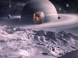 Muy cerca de Saturno