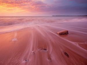 Brisa en la playa al atardecer