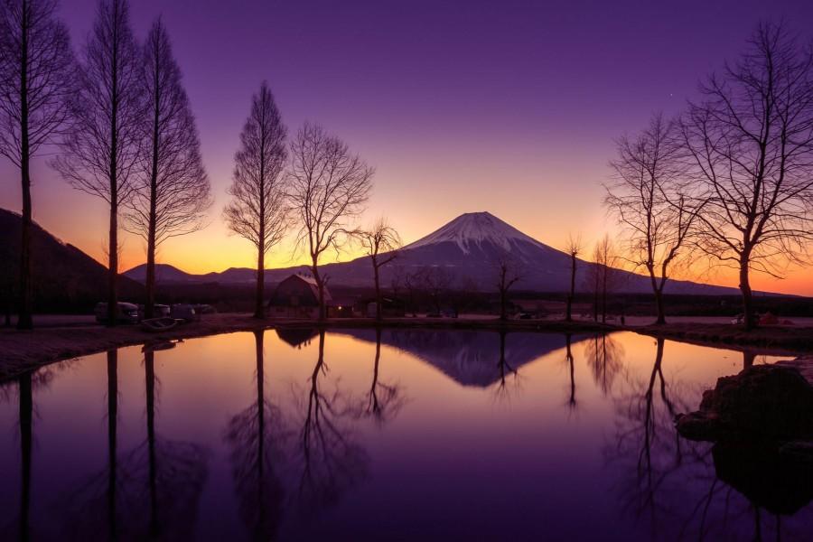 Hermosa vista del monte Fuji (isla de Honshu, Japón)
