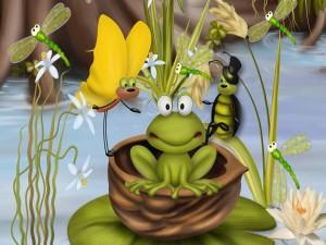 La bella Bug y la rana