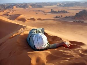 Un merecido descanso en el Sahara