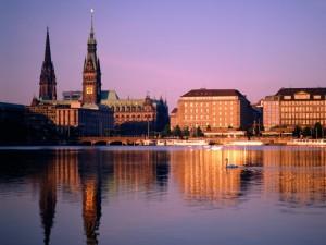 Bonita vista de Hamburgo (Alemania)