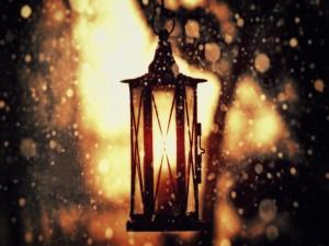 Farolillo iluminado