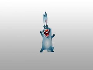 Un divertido conejo