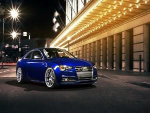 Un bonito Audi S5 de color azul