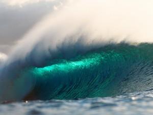 Bonita ola en el océano