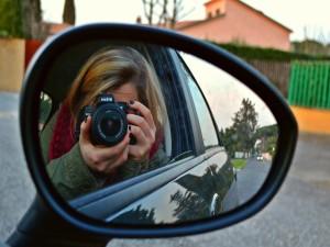 Selfie desde el auto con una Nikon