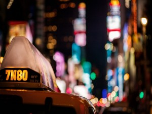 Taxi en la ciudad de Nueva York