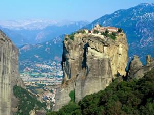 El monasterio de la Santa Trinidad, Agia Triada (Meteora, Grecia)