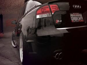 Parte trasera de un Audi S4