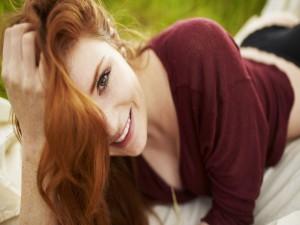 La sonrisa de una bonita mujer