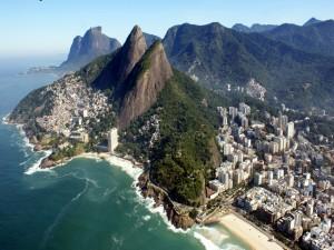 Un área de la ciudad de Río de Janeiro en Brasil