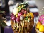 Frutas en una cesta