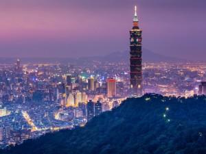 El Taipei 101 ubicado en la ciudad de Taipéi (Taiwán)