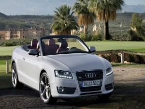Audi 5 Cabrio junto a un campo de golf