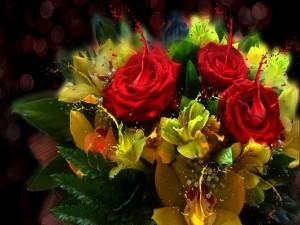 Bello ramo de flores