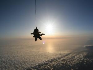 Adrenalina de un paracaidista