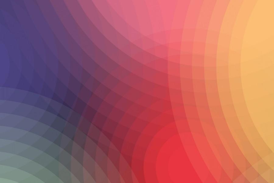 Círculos con los colores del arcoíris
