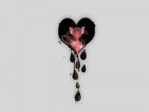 Corazón goteando
