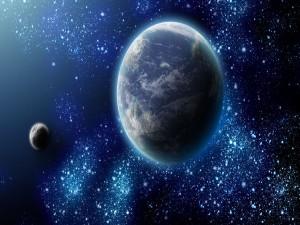 Planetas y la Vía Láctea