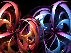 Flores abstractas en 3D