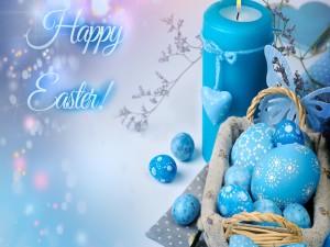 Elementos preparados para festejar Pascua
