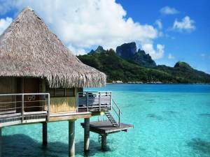 Complejo de bungalows en Bora Bora