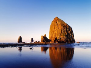 Playa del cañón en Oregon (EE.UU.)
