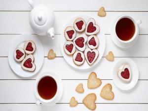 Galletas de corazón para un asombroso desayuno