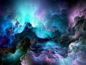 Nubes de colores abstractos