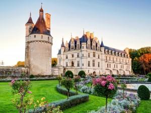 El castillo de Chenonceau visto desde los jardines de Catalina de Médicis