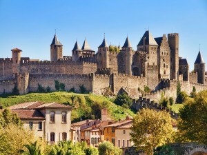 Vista del castillo de Carcassonne (Francia)