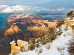 Nieve en el Gran Cañón