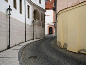 Calle empedrada de Praga