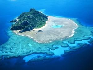 Vista de la isla Monuriki (Fiji)