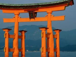 Torii en Miyajima (Japón)