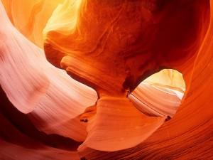 Luz y sombra en el Cañón Antílope, Arizona