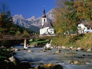 Hermosa vista de Ramsau bei Berchtesgaden (Baviera, Alemania)