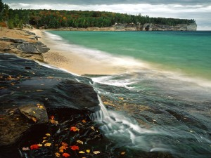Playa en otoño