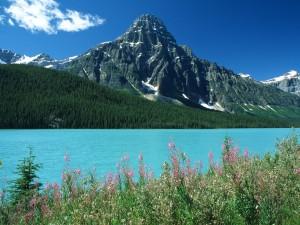 Monte Chephren junto al lago Waterfowl (Alberta, Canadá)