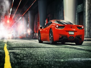 Ferrari 458 en una carretera