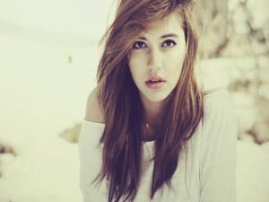 El rostro de una joven modelo