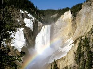 Arcoíris en el Parque Nacional de Yellowstone